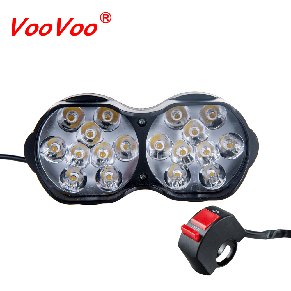 Head-Lamp Spot-Light Scooter Moto Working LED Atv 12v DRL White 6500K title=