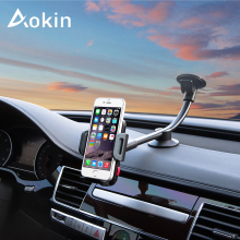 Aokin Car Phone Mount Holder Long Arm Universal Windshield Dashboard Cradle Phone Holders For iPhone 7 for Huawei Phone Stand(China)