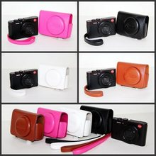 4 Colors Black/White/Brown/Pink Camera Case Bag Leather Case Cover for Digital Camera Leica C Free Shipping
