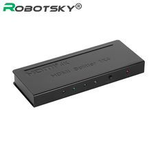 HDMI Splitter 1 In 4 Out 1x2 1x4 4 Port HDMI Powered Splitter Amplifier Signal Distributor 4Kx2K V1.4 1080p 3D for HDTV DVD XBOX