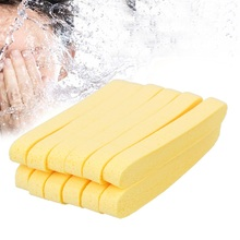 6 Pair Yellow Compressed Sponge Foam Mat Pad New Cleaning Wash Puff Sponge Stick Face Cleansing Skin Care Cosmetic Puff