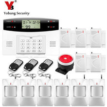 YobangSecurity Metal Remote Control 7 Wired 99 Wireless Zone GSM Alarm System Home Security Systems PIR Door Detector - Ubang Store store