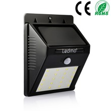 20LED Solar Light Waterproof PIR Motion Sensor Garden Lights Powered Wall Lamp for Outdoor Street Lighting Pathway  Sense Light