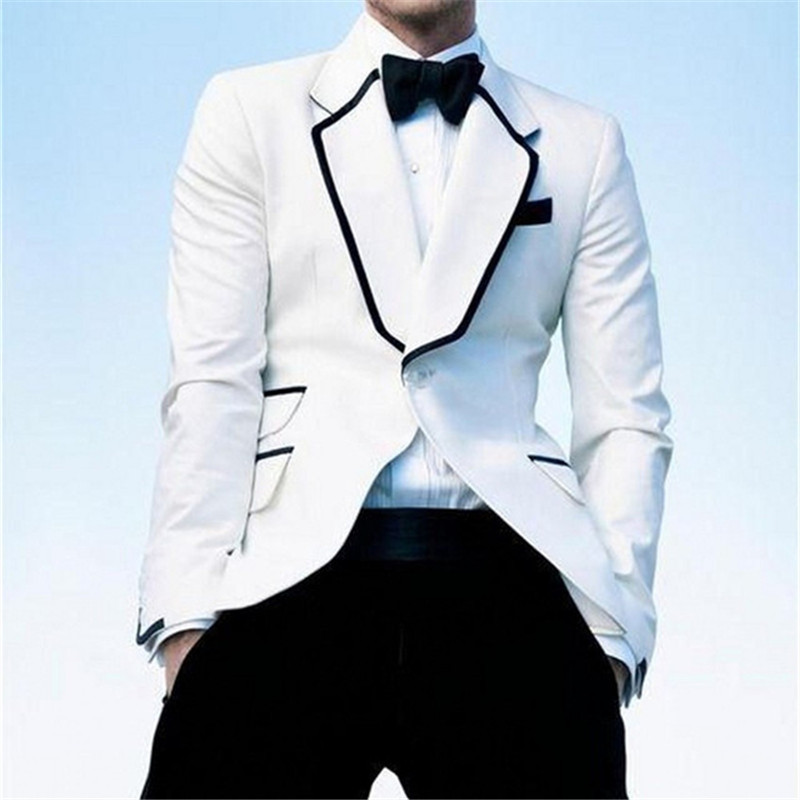 Gentleman Style Summer Men Suits For Wedding Tuxedos Masculino 2Pieces(Jacket+Pants+Tie) Custom Made Latest Design Men Suit