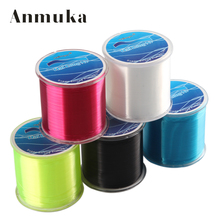 Anmuka Hailongnv 500M SPECTRA EXTREME NYLON FISHING LINE High Quality Fishing Line White Red Black Yellow Blue(China)