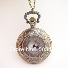 Animal Print Ladies Watch Vintage Fashion Quartz Pocket Watch,Unisex Pocket Watch 100pcs/lot,DHL Free Shipping To Usa/Europe(China)