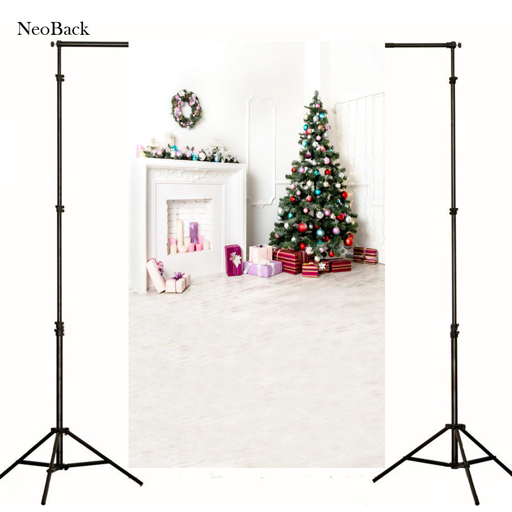2017 Poly Vinyl photo Cloth Computer Printed New Born Baby Photography Backdrops Christmas Tree Backgrounds Photo studio P1061<br><br>Aliexpress