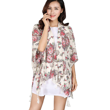 Scarf Brand poncho Beach Cover Up Scarves Loose Casual Shawls 2017 new Women Winter Cashmere Silk Long Pashmina Large Wrap(China)