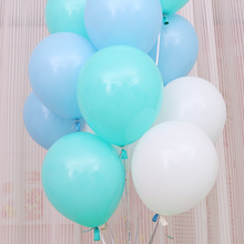 "Tiffany Blue White Matte Balloons 10pcs/lot 10""inch Latex Balloons Helium Thickening Pearl Wedding Party Birthday Baloon Globos(China)"