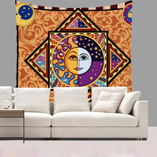 Smiry Indian Mandala Printing Tapestry Sun Moon Flowers Religious Style Wall Hanging Short Plush Yoga Mat Beach Towel Home Decor(China)
