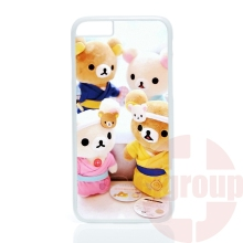 2016 new cute rilakkuma bear Hard PC Skin accessories For Apple iPhone 4 4S 5 5C SE 6 6S 7 7S Plus 4.7 5.5 iPod Touch 4 5 6