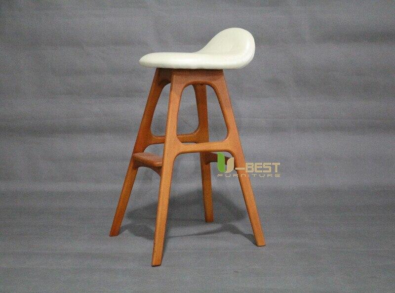 erik buch bar chair counter chair white PU cushion shining u-best furniture (2)
