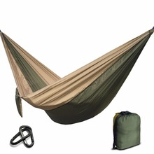 Portable Nylon Parachute Hammock Camping Survival Garden  Hunting Leisure Hamac Travel Double Person Hamak