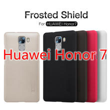 Case for Huawei Honor 7 Premium Original Nillkin Frosted Shield Hard Back Cover for Huawei Honor 7 + Free Screen Film(China)
