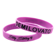 Promo Gift 1PC Demi Lovato Stay Strong Silicone Wristband for Music Fans(China)