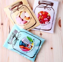 100pcs/lot plastic packing shopping bags cookie bags wedding cake bags bonbons for gift pouch