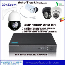 Auto Tracking 2MP 1080P AHD CCTV Surveillance Camera System Kit 20xZoom Speed Dome Camera 8Channel Full HD AHD DVR
