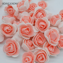 50Pcs/lot DIY Handmade Foam Flowers 3.5cm Rose Flower Head Artificial PE Foam Rose Wedding Decoration Scrapbooking Crafts
