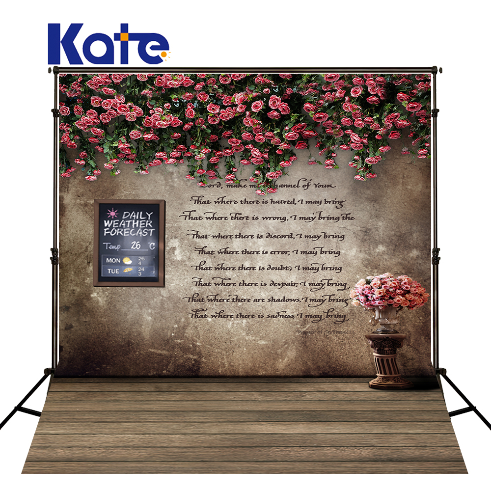 New Arrival Background Fundo Fishing Flowers Wall 6.5 Feet Length With 5 Feet Width Backgrounds Lk 3870<br>