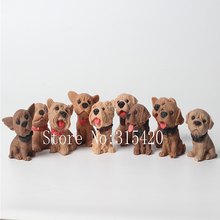 Nicole 2016 New Arrival Different Kinds Of Lovely Dogs Silicone Soap Candle Mould Fondant Jelly Pudding Silicone Molds Decorate(China)