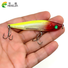 Hengjia 1pc 8.5cm 13.6g ABS Plastic Pencil wobbler Fishing Lures Minnow laser bass isca Artificial fishing tackle White fish(China)