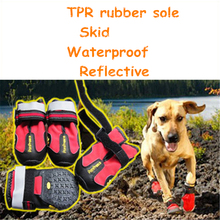 Waterproof Socks Pet Dog Shoes Rain Boots Animal Outdoor Shoes Reflective Dog Non Slip Rubber Boots Pet Socks Supplies QQM857