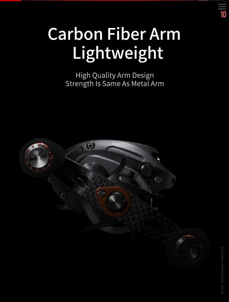 Kingdom SPEED SHOT MICRO 2019 New Double spool 6.51 High Speed Baitcasting Reel Ultralight 12+1 Ball Bearings Fishing Reel (11)