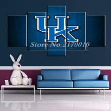 NewModern Home Artwork Poster Picture UK University basketball Canvas Unframed Popular Team Members 5piece Painting Bedroom Ball