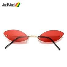 7907734522875 JackJad Moderno Do Vintage Óculos de Sol Da Moda Sem Aro Ultraleve Cat Eye  Estilo Fino
