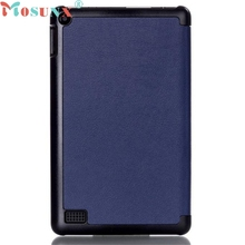MOSUNX Tri-Fold Leather Stand Case Cover for Amazon Kindle Fire 7inch Drop Shipping Futural Digital Hot Selling F30