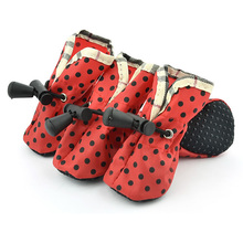 Pet dog Shoes Dots Rain Boots Cat Puppy Shoes Anti-slip Comfortable Protective Special For Small Dogs shoes Candy Colors(China)