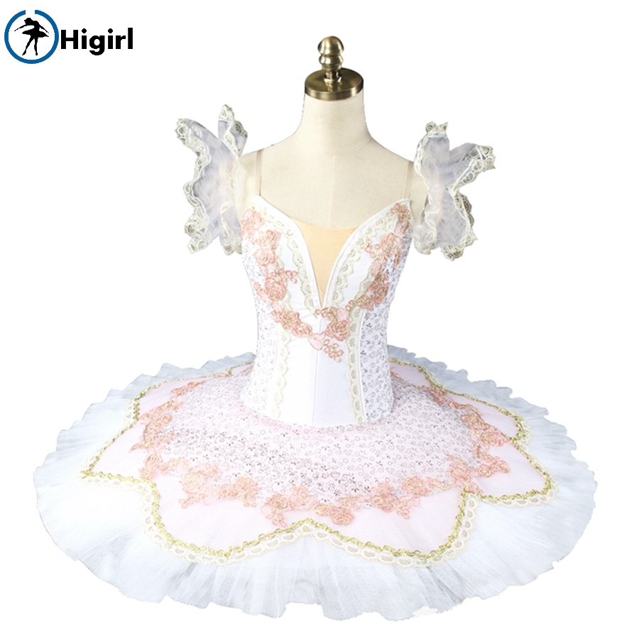White ballet tutu for girls ballet costumes professional classical ballet tutus pancake tutu nutcracker ballet costumes BT8925
