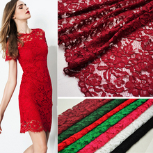 2yards/lot High quality water soluble african cord lace fabric,African guipure lace for dress sewing Options Wedding Dress Gown(China)