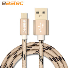 Bastec Micro USB Cable Braided Wire Metal Shell Gold-plated Connector Android USB Cable for Samsung / Sony / Xiaomi / Huawei