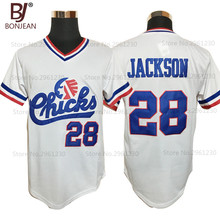 Cheap Mens #28 Bo Jackson Chicks Throwback Baseball Jersey White Movie Jersey Stitched American Baseball Shirts(China)