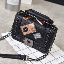 Womens Shoulder Bag Lingge Leather Quilted Chain Hasp Handbag Purse GirLMessenger Bags Bolsos Diamond Lattice Famous brands(China)