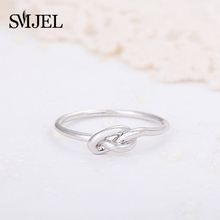 SMJEL  Wholesale Love Heart Tie Knot Women Rings Skinny Rings for Girl Bridesmaid Gift Accessories Jewelry 10PCS-R022