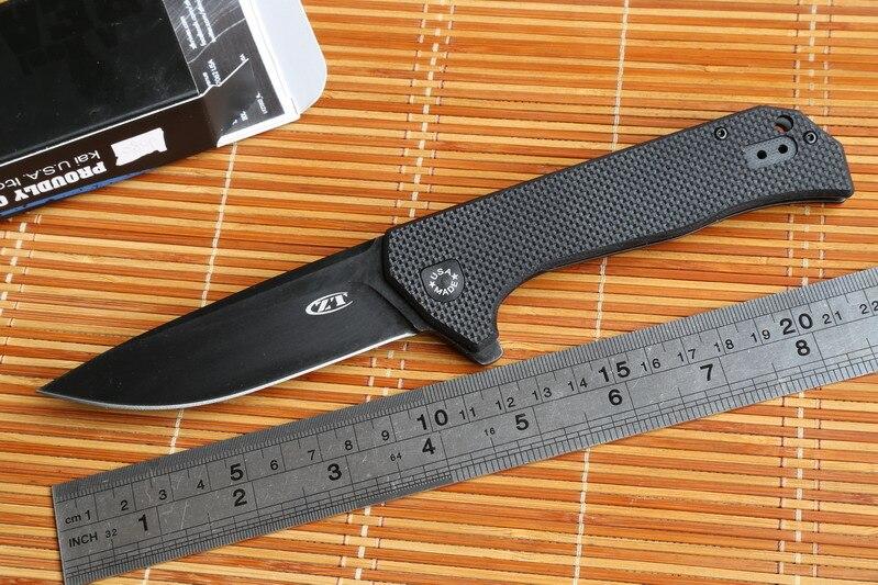 JUFULE OEM ZT0804 ball bearing Folding Knife steel G10 Titanium plating Handle 204P Camping Hunt pocket Survival Knife EDC Tools<br><br>Aliexpress