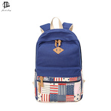 New Fashion Canvas Backpack Children School Bags USA flag tattoo backpack Comfortable Backpacks for unisex Teenagers(China)