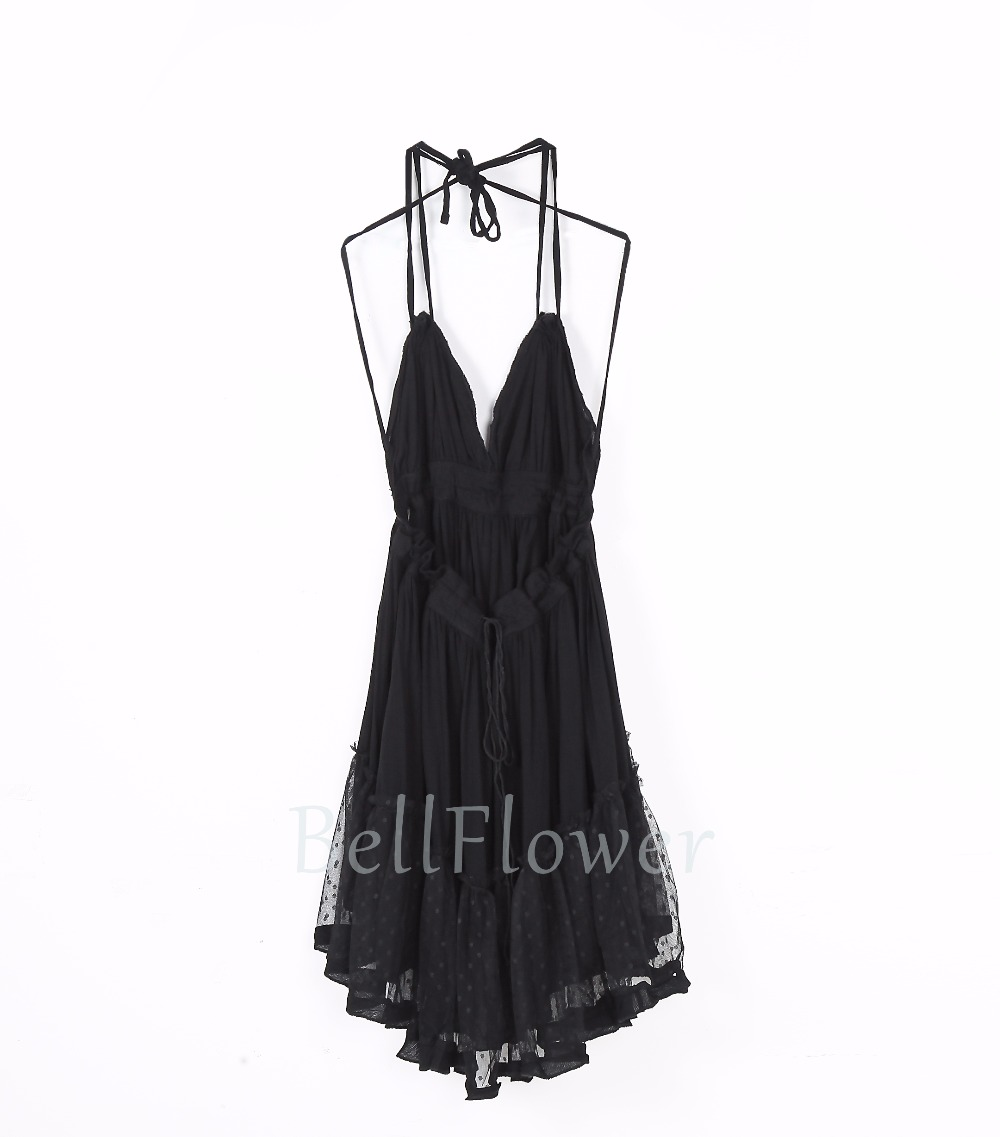BellFlower 17 Summer Bohemian Women Mini Dress Backless Beach Dress Holiday Boho Strapless Sexy Ball Gown Hippie Chic Dress 16