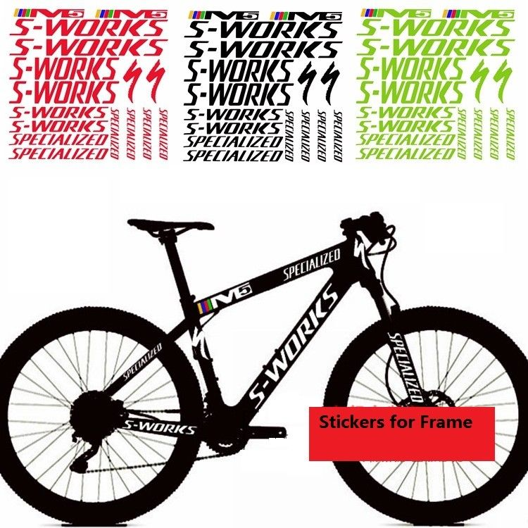 SPECIALIZED BICYCLE STICKERS DECALS  ANY COLOR  BIKE RACE