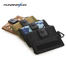 Military Men Wallet Anti-thief Buckle Card Money Short Male Molle Purse Outdoor Sport Portable Pouch With Hook loop Mesh Pocket(China)