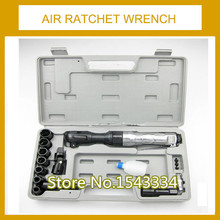 Free shipping 1/2 inch pneumatic ratchet wrench kit Air Ratchet Wrench gas trigger pneumatic wrench air wrench