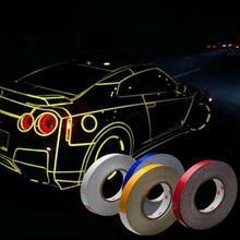 1PC Car Sticker Reflective Tape Sheeting Film Automotive Body Motorcycle Decoration Waterproof Auto Motor Color Strip Styling(China)