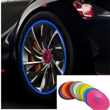 car-styling Automobile hub Decorative strip tyre protecting ring accessories for DAIHATSU key terios sirion yrv charade feroza(China)