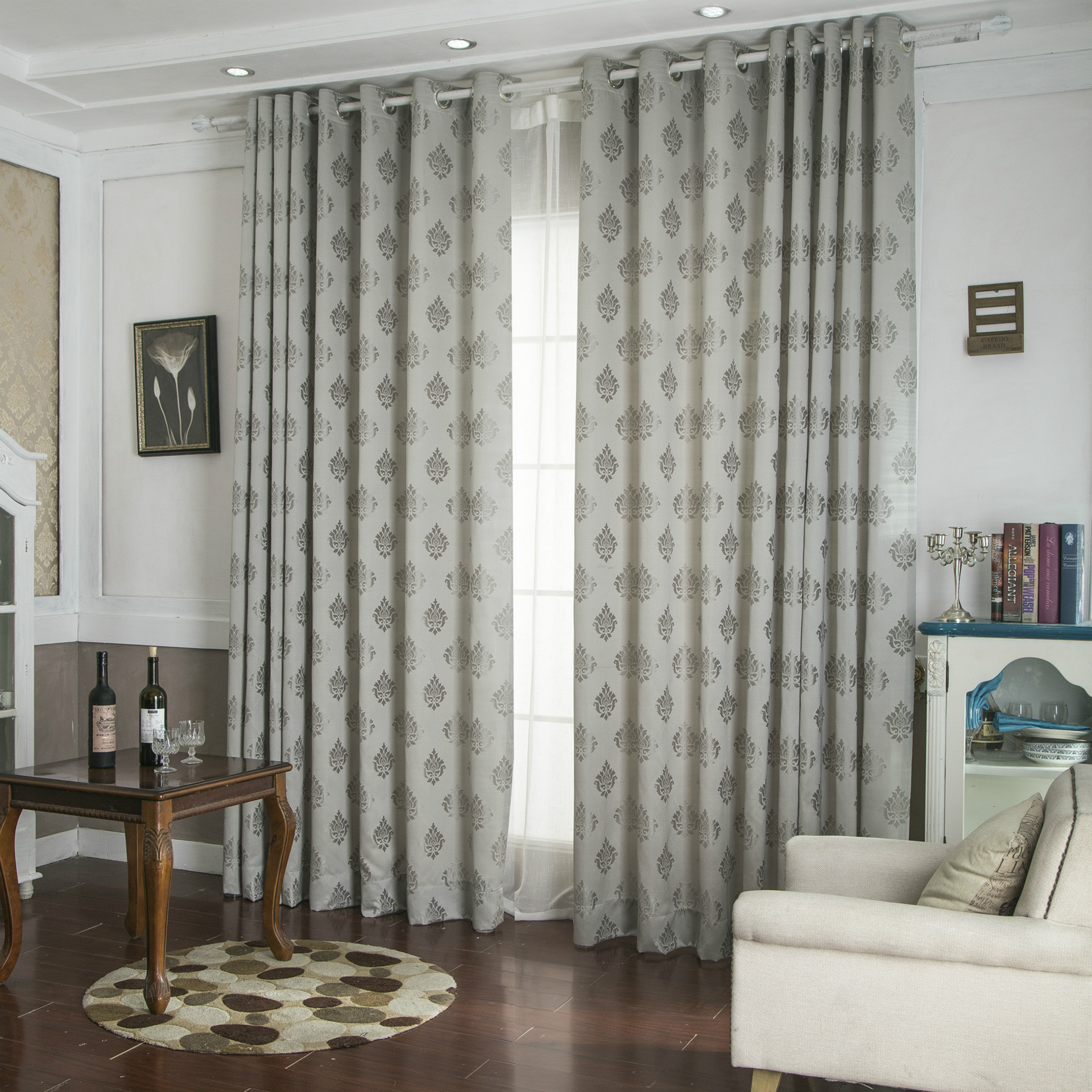 Living room curtains clearance living room for Curtain images for living room
