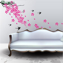 Black Swallow Pink Plum Series Factory Direct Combination Of PVC Wall Stickers Posted Home Wall Stickers