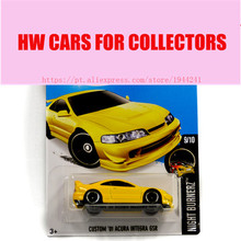 2016 New Hot Wheels 1:64 custom acura integra gsr car Models Metal Diecast Car Collection Kids Toys Vehicle Juguetes(China)