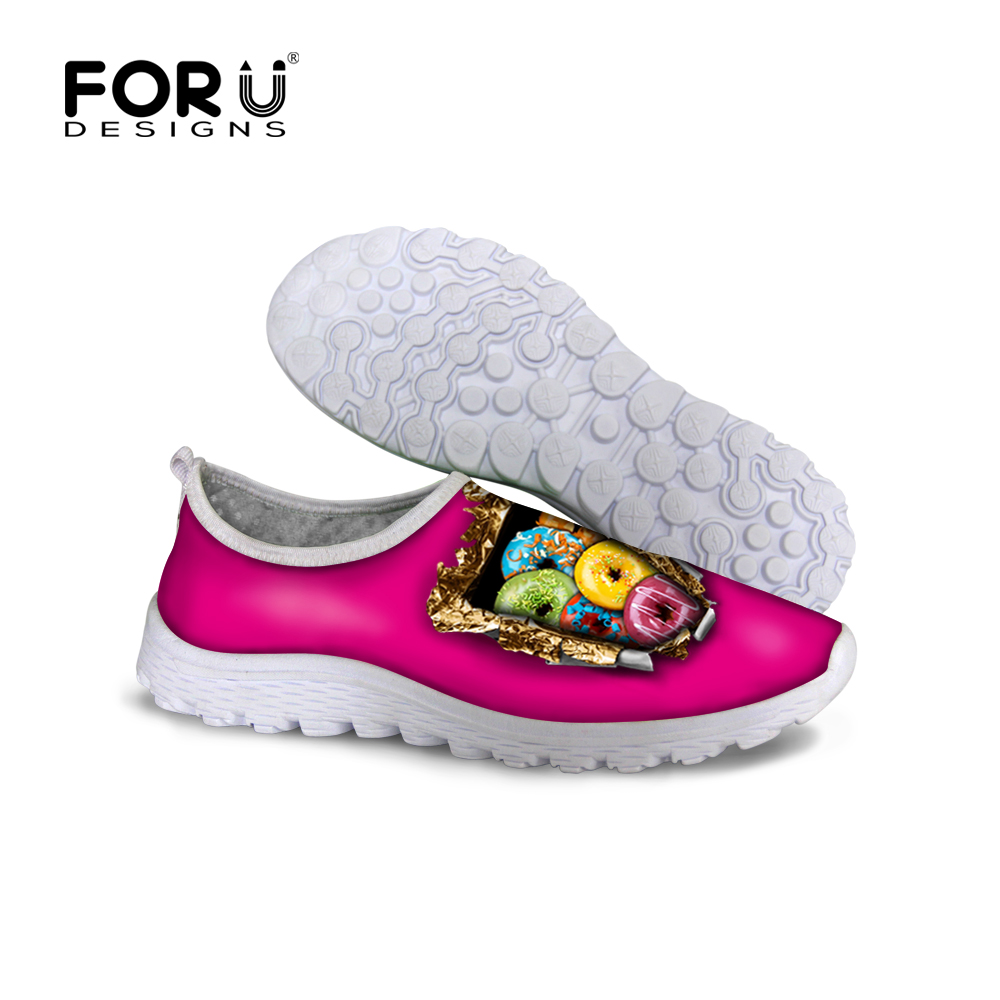 Womens Shoes Spring Autumn Summer Style Casual Shoes Platform Chocolate Doughnut Candy Print Breathable Leisure Walking Shoes<br><br>Aliexpress
