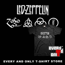 Led Zeppelin Blues rock Band Logo Short-sleeve Casual T-shirt Tee T